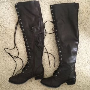 Over-Knee Lace Up Boots